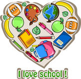 School background,drawing vector Stock Photography