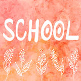 School background, hand drawn vector illustration, watercolor. Background stock illustration