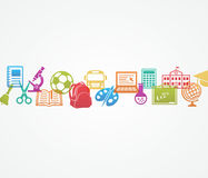 School background with icons Royalty Free Stock Photos