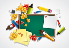 School background. With objects for school Stock Image