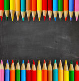 School background. The school background and pencils royalty free illustration