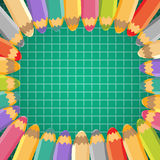 School background with pencils. Vector illustration Royalty Free Stock Image