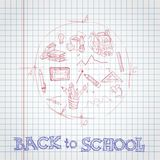 School Background Of School Supplies Stock Photography