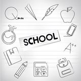 School background Royalty Free Stock Image