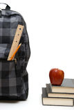 School Backpack and Books Royalty Free Stock Images