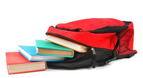 School backpack and books. Royalty Free Stock Images