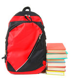 School backpack and books. Stock Images