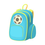 School backpack icon, cartoon style Royalty Free Stock Image