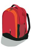 The school backpack Stock Photography