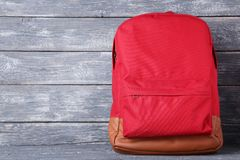 School backpack royalty free stock images