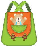 School Backpack Teddy Bear Royalty Free Stock Photos