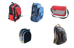 School backpacks Stock Images