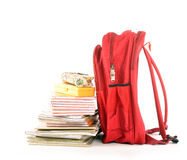 School bag. On white including path Stock Photos