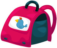 School bag. Illustration of isolated colorful school bag on white background Royalty Free Stock Photo