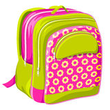 School Bag. Vector illustration of colorful school bag on white background Stock Image