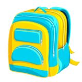 School Bag. Vector illustration of colorful school bag on white background Royalty Free Stock Photography