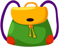 School bag. Illustration of isolated  school bag on white background Royalty Free Stock Image