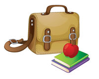 School bag. Illustration of a school bag on a white Royalty Free Stock Photography