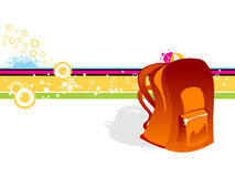 School bag. On abstract background royalty free illustration