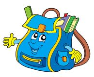 School bag. On white background - vector illustration Royalty Free Stock Image