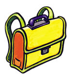 School bag. For different needed think Royalty Free Stock Photo