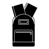 School bag book notebook pictogram. Illustration eps 10 Stock Photography