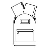 School bag book notebook thin line. Illustration eps 10 Royalty Free Stock Image