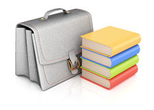 School bag and books Stock Image