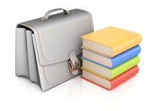 School bag and books Stock Image