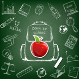 School bag. Doodle image. Royalty Free Stock Photography