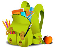 School bag. EDucation background with school bag Royalty Free Stock Photography