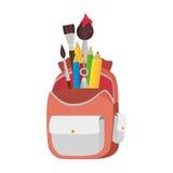 School bag equipment icon Royalty Free Stock Image