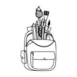 School bag equipment icon Stock Photos