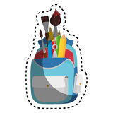 School bag equipment icon Royalty Free Stock Photography