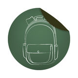 School bag equipment icon Stock Photography