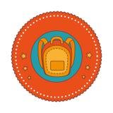 School bag equipment icon Royalty Free Stock Photo