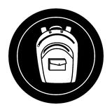 School bag equipment icon Stock Image