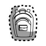 School bag equipment icon Royalty Free Stock Photos