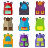 School bag. Flat design, illustration stock illustration