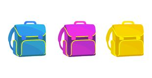 School bag icon realistic on a white background. Stock Photography