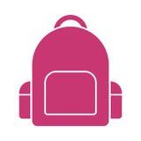 School bag icon. Vector icon Royalty Free Stock Photography