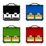 School bag icons Royalty Free Stock Images