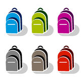 School bag icons Stock Photos