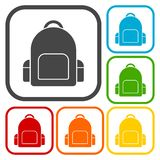 School bag icons set Royalty Free Stock Photography