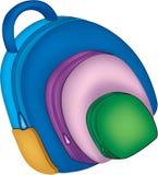 School bag illustartion stock illustration