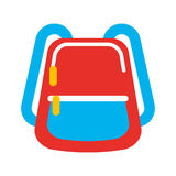 School bag isolated icon Stock Images