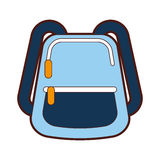School bag isolated icon Royalty Free Stock Photo
