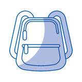 School bag isolated icon Royalty Free Stock Images
