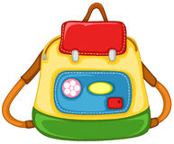 School bag for kid. Illustration of isolated school bag for kid on white background Royalty Free Stock Image