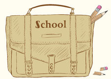 School bag Stock Images